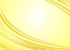 желтый цвет волн абстрактной предпосылки красивейший s солнечный Стоковое Изображение