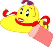 желтый цвет волшебства шлема Стоковое Фото