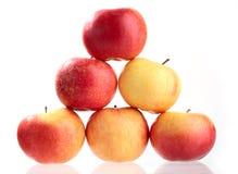 желтый цвет вороха яблока красный Стоковые Изображения