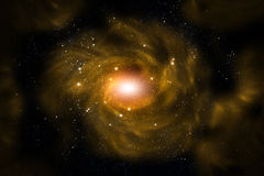 желтый цвет галактики Стоковые Изображения