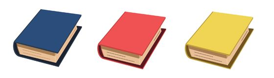 Желтый цвет голубого красного цвета значка книги красочный бесплатная иллюстрация