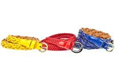 желтый цвет голубого красного цвета пояса Стоковое Изображение RF