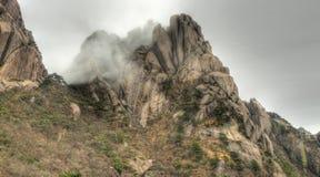 желтый цвет горы держателя huangshan фарфора Стоковое Изображение