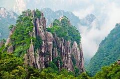 желтый цвет горы huangshan Стоковые Изображения