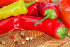 желтый цвет горячего перца красный Стоковая Фотография