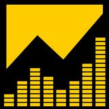 желтый цвет графика выравнивателя aka Стоковое Изображение