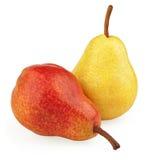 желтый цвет груш красный Стоковые Фото