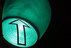 желтый цвет движения зеленых светов красный символ зеленого света стрелки авиапорта стоковые изображения rf
