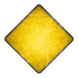 желтый цвет дорожного знака Стоковая Фотография