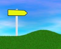 желтый цвет дорожного знака Стоковое фото RF
