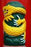 желтый цвет дракона Стоковые Изображения