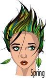 желтый цвет женщины весны принципиальной схемы зеленый бесплатная иллюстрация