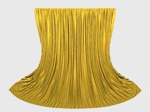желтый цвет занавесов Стоковые Фото