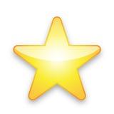 желтый цвет звезды Стоковые Изображения RF