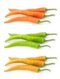 желтый цвет зеленого перца конца красный Стоковое Изображение