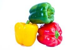 желтый цвет зеленого перца paprica красный сладостный Стоковое Изображение RF