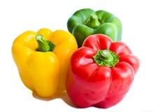 желтый цвет зеленого перца paprica красный сладостный Стоковое Фото