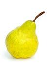 желтый цвет зеленой груши одиночный Стоковое Изображение