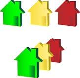 желтый цвет зеленых домов красный Стоковые Изображения RF