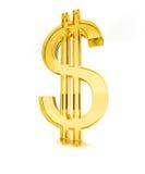 желтый цвет знака доллара 2 3d Стоковое Фото