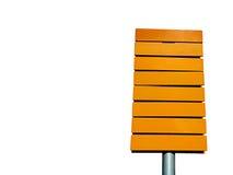 желтый цвет знака направления Стоковое Фото