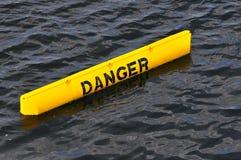 желтый цвет знака опасности Стоковая Фотография RF