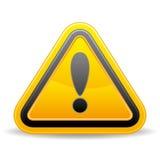 желтый цвет знака триангулярный предупреждающий Стоковые Изображения RF