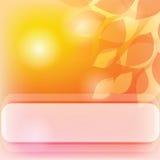 желтый цвет знамени Стоковая Фотография RF