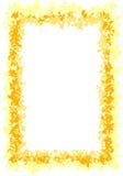 желтый цвет золота граници Стоковые Изображения