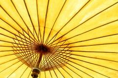 желтый цвет зонтика Стоковое Изображение RF