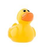 желтый цвет игрушки классицистической утки пластичный Стоковая Фотография RF