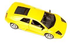 желтый цвет игрушки спорта автомобиля Стоковое Фото