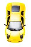желтый цвет игрушки спорта автомобиля Стоковая Фотография