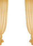 желтый цвет изолированный занавесом стоковые изображения