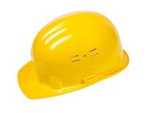 желтый цвет изолированный шлемом Стоковая Фотография