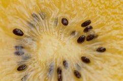 Желтый цвет или крупный план киви золота Стоковое Фото