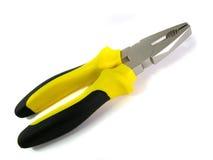желтый цвет инструментов плоскогубцев иллюстрация штока