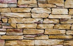 желтый цвет каменной стены Стоковое Фото