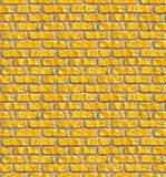 желтый цвет картины кирпичной кладки безшовный Стоковое Изображение RF
