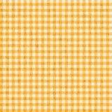 ЖЕЛТЫЙ ЦВЕТ картин скатертей Grunge Checkered - бесконечно Стоковые Изображения