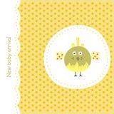 желтый цвет карточки птицы иллюстрация штока