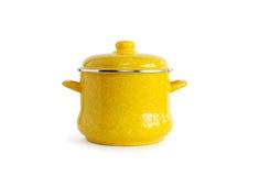 желтый цвет кастрюльки Стоковое Изображение RF