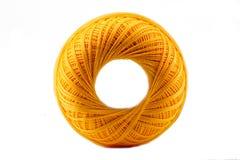 желтый цвет катышкы хлопка Стоковая Фотография RF