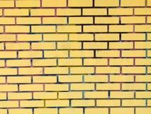 желтый цвет кирпичной стены Стоковая Фотография RF