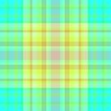 желтый цвет клетки зеленый безшовный Стоковые Фото