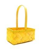 желтый цвет корзины Стоковые Изображения
