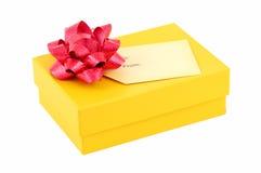 желтый цвет коробки Стоковые Фото