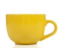 желтый цвет кофейной чашки белый Стоковое Изображение RF