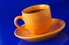 желтый цвет кофейной чашки Стоковое Изображение RF
