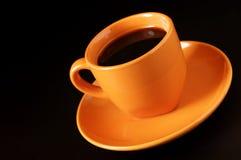 желтый цвет кофейной чашки Стоковое фото RF